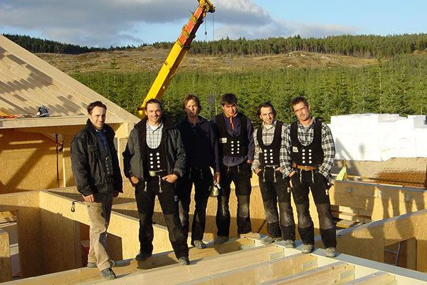 Team von Holzbau Wolf in Schottland