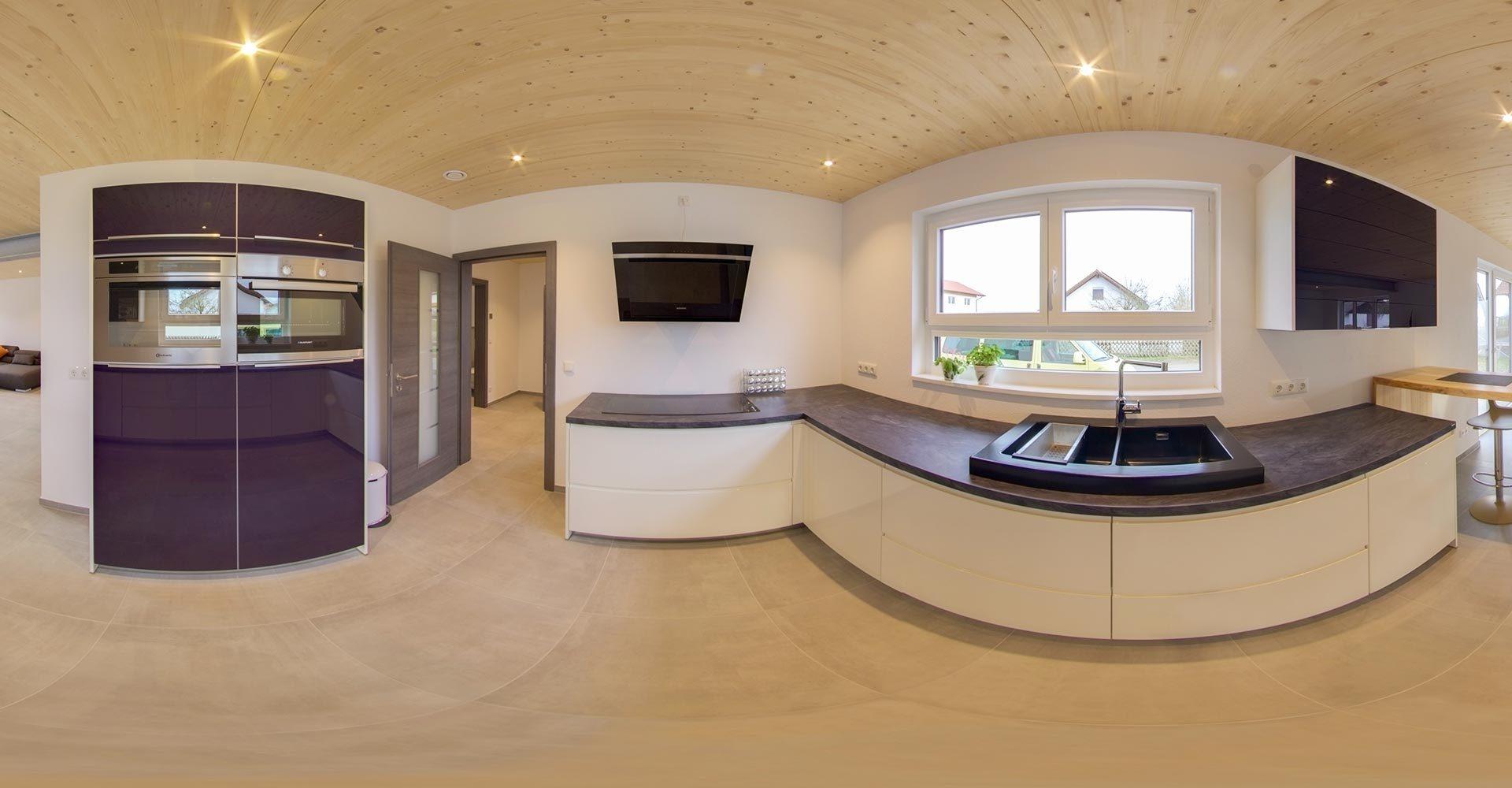 Innenausbau der Küche mit der Holzbau Wolf GmbH & Co. KG