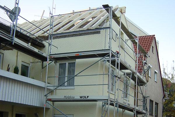 Dämmunf der Wände und des Dachs