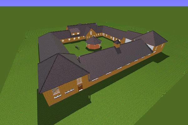 CAD-Zeichnung des Projekts in Schottland
